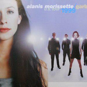 ALANIS MORISSETTE & GARBAGE 1999 TOUR PROMO POSTER